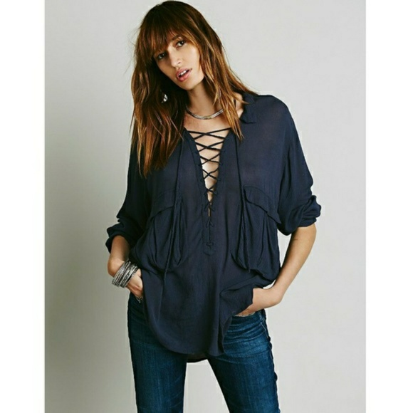 Free People Tops - Free People Robin Lace-Up Top